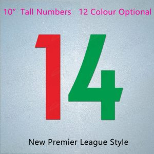New Premier League Style User-Defined Iron On Football Number PU Numbers Single