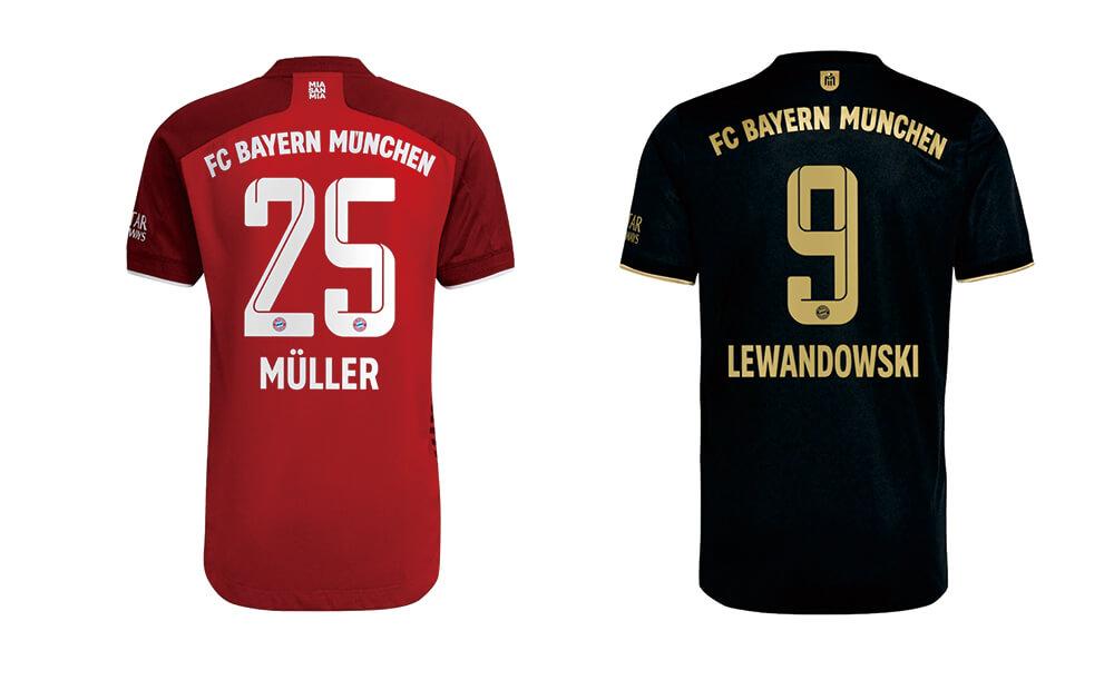 FC Bayern 21-22 Home/Away kits
