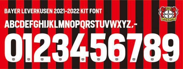 Bayer Leverkusen 2021-2022 Kit Font
