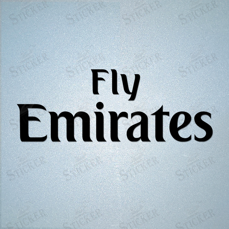 Real Madrid Home Away Shirt Sponsor FLY Emirates LOGO Iron-On Polyflex Printing Sticker